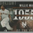 2015 Topps Baseball Highlight of the Year Willie Mays (NY Giants) #H-43