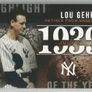 2015 Topps Baseball Highlight of the Year Lou Gehrig (Yankees) #H-37