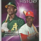 2015 Topps Eclipsing History Rickey Henderson (Athletics) & Lou Brock (Cardinals) #EH-1