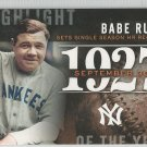 2015 Topps Update & Highlights Season Highlight 1927 Babe Ruth (Yankees) #H-61