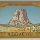 "2016 Topps Allen & Ginter Baseball Natural Wonders ""Devils Tower"" #NW-15"