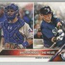 2016 Topps Update Baseball Rookie Combos Brett Nicholas & Dae-Ho Lee #US57