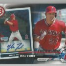 2017 Topps Baseball Bowman Then & Now Mike Trout (Angels) #BOWMAN-1