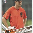 2017 Topps Update Baseball SP Photo Variation Trey Mancini RC (Orioles) #US227