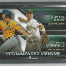 2017 Bowman Draft Picks Chrome Recommended Viewing Austin Beck / Kevin Merrell (Athletics) #RV-OAK