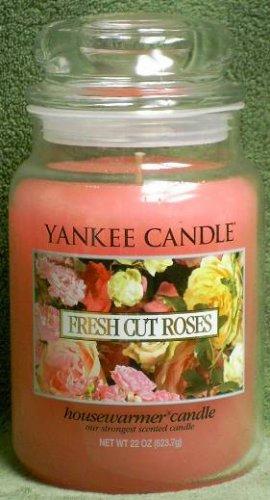 """Yankee Candle """"Fresh Cut Roses"""" 22oz. Housewarmer Candle"""