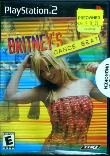 """Playstation 2 """"Britney's Dance Beat"""" Video Game   Used"""