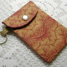 Pocket Keychain Card Holder Brick Floral