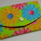 Mini Wallet Business Card Holder- Bright Daisy