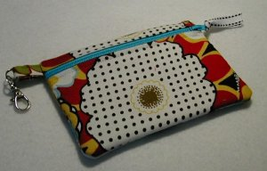 Little Zip Pouch- Padded Zippy- Bold Floral