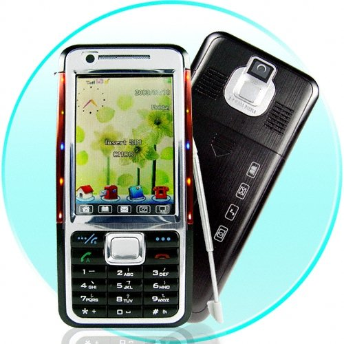 Funky Slim Touchscreen Multimedia Mobile Phone with Lights