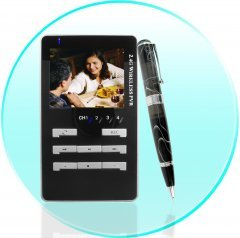 Wireless Spy Camera Pen with Solar Charger
