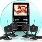 Wireless Baby Monitor Set - 2.4 GHz MP4 with 4 Wireless Cameras