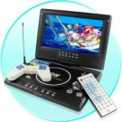 Elite Black Portable TV with DVD and Swivel Screen
