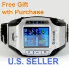 New Version T918 Unlocked Triband Watch Mobile Phone Bluetooth Camera PDA MP3 MP4 ( W100 style)