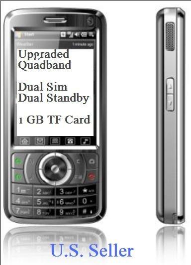 A008 Upgraded  Quadband Unlocked Dual Sim Dual  Standby Touch Screen Bluetooth FM  1 GB TF MP3/MP4