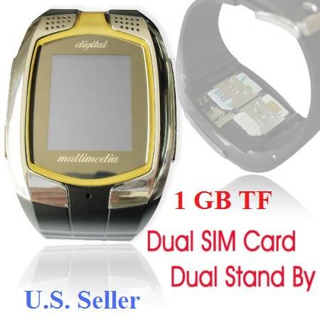 New M860 Dualsim Standby Triband Touch Screen Camera Watch Phone + 1G TF Series of M810, T819, W100