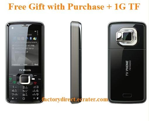New A813  2.4 Touch Screen Dualsim Quadband TV Unlocked Cell Phone + 1G TF Nokia 6124 Style