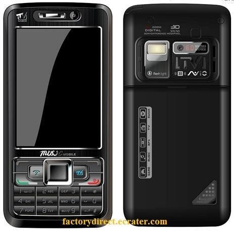 New S811 Quadband Dual Camera TV Unlocked Cell Phone + 1 GB. TF C1000 style