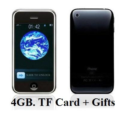 I68+ 3G(i9 + ++)Style Dualsim Quadband Touch Screen JAVA Unlocked Cell Phone + 2G TF