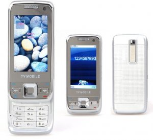 E66 Style Silver/White Dual sim dual standby TV Quadband Cell Phone Plus 1GB. TF  Nokia E66 Style