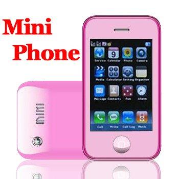 Mini K780 Pink Quadband Dualsim  Touch Screen Unlocked Cell Phone + 2GB TF  Mini i9+ and KA08 series
