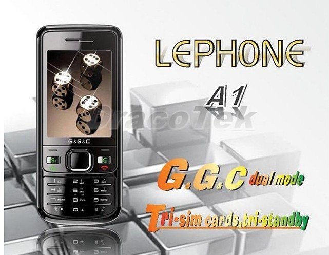 New A1 TRI SIM dual STANDBY(2 GSM+1 CDMA) CELL PHONE  MP4/FM 1GB TF