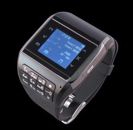 Free Tek EG200 Watch Cell Phone dual sim Touch Screen BluetoothMP3/MP4 FM