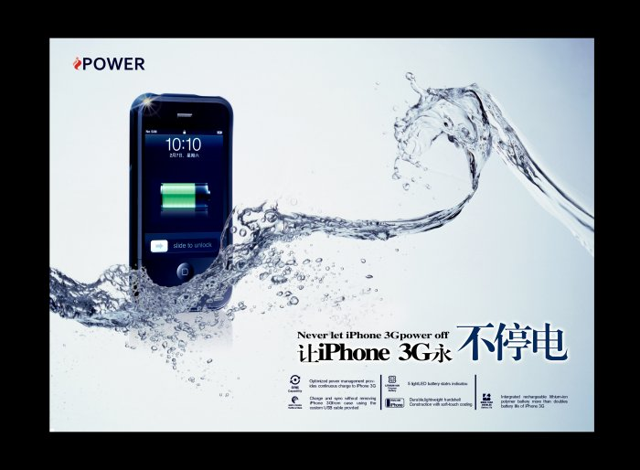 iPOWER  Battery Case for Apple iPhone 3G