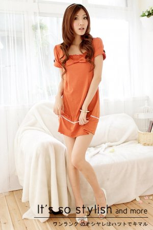 Bow neckline dress (D8841)