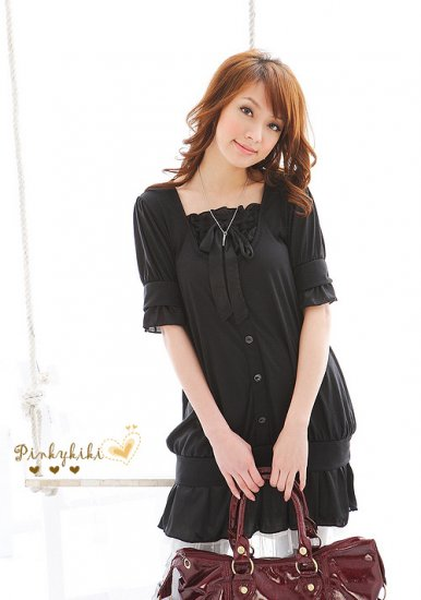 tie-bow dress-top (D8842)