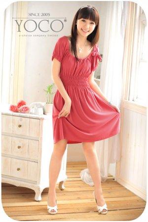 Smocked sleeve dress (D8849)