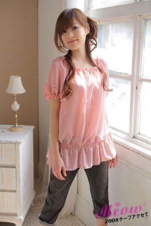 Drawstring chiffon blouse (T8845)