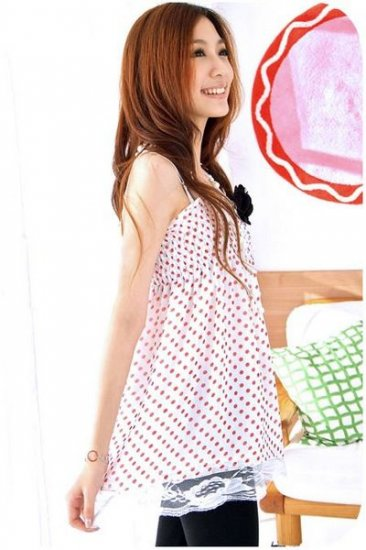 Dots spagh Top (T8847)