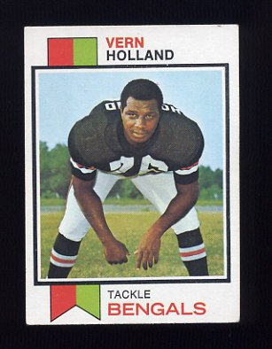 1973 Topps Football #62 Vern Holland - Cincinnati Bengals