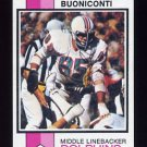 1973 Topps Football #214 Nick Buoniconti - Miami Dolphins ExMt