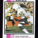 1973 Topps Football #511 Paul Warfield - Miami Dolphins Ex