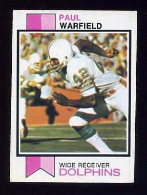 1973 Topps Football #511 Paul Warfield - Miami Dolphins Ex