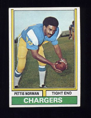 1974 Topps Football #307 Pettis Norman - San Diego Chargers