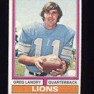 1974 Topps Football #275 Greg Landry - Detroit Lions