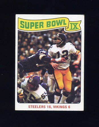 1975 Topps Football #528 Super Bowl IX / Terry Bradshaw - Pittsburgh Steelers