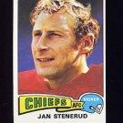 1975 Topps Football #488 Jan Stenerud - Kansas City Chiefs
