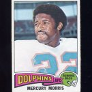 1975 Topps Football #475 Mercury Morris - Miami Dolphins