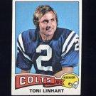 1975 Topps Football #439 Toni Linhart - Baltimore Colts