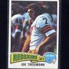 1975 Topps Football #416 Joe Theismann RC - Washington Redskins