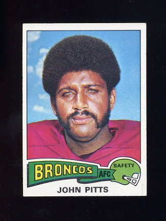 1975 Topps Football #409 John Pitts - Denver Broncos