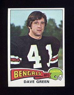 1975 Topps Football #394 Dave Green - Cincinnati Bengals