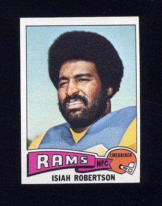 1975 Topps Football #371 Isiah Robertson - Los Angeles Rams
