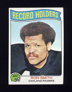 1975 Topps Football #356 Ron Smith RB - Oakland Raiders VgEx