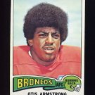 1975 Topps Football #350 Otis Armstrong RC - Denver Broncos Ex